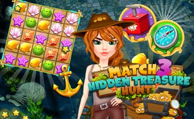 Match 3: Hidden Treasure Hunt